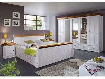 Massivholz Bett mit Schubkästen, Serie SZ-0132 100 x 200 cm