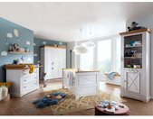 Massivholz Kinderzimmer Babyzimmer Mam, Serie KI-0065 weiß