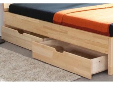 Massivholzbett Venedig Fußteilvariante 2 Basic, Schubladen ST