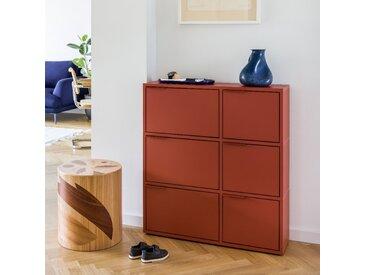 Konfigurierbares Schuhregal in modernem Rot - online ganz einfach