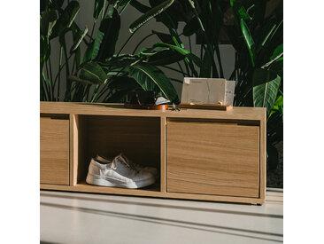 Konfigurierbares Schuhregal aus Eiche - online ganz einfach