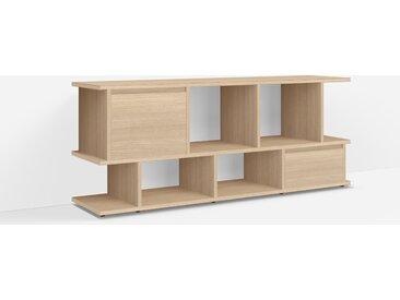 Konfigurierbare TV Möbel aus Eiche - Furnier