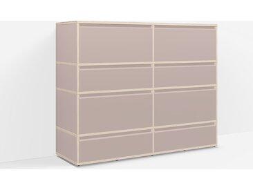 Individualisierbare Kommode Holz aus Spanplatte in Rosa. Moderne