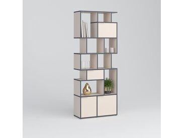 Individualisierbar: Bücherregal aus Spanplatte in Beige - Moderne