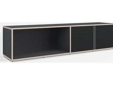 Konfigurierbare Kommode mit Türen. Aus Multiplexplatte in