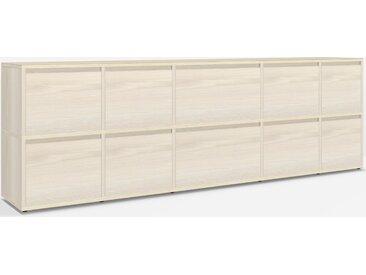 Konfigurierbare Sideboard mit Türen und Schubladen aus Esche -