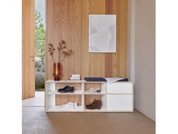 Konfigurierbares Schuhregal in modernem Weiß - online ganz