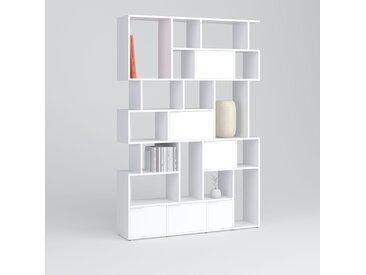 Individualisierbar: Bücherregal aus Spanplatte in Weiß - Moderne