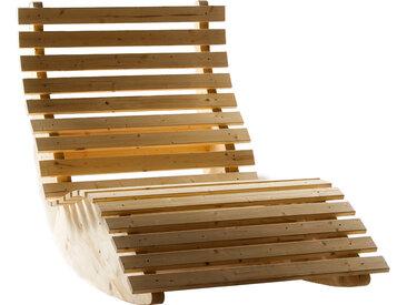 Schaukelliege Liegebreite 100 cm Sonnenliege Gartenliege Relaxliege Holz