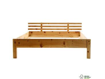 Zirbenholzbett 200 x 200 cm Bett aus Zirbenholz über 300kg Zirbe unbehandelt
