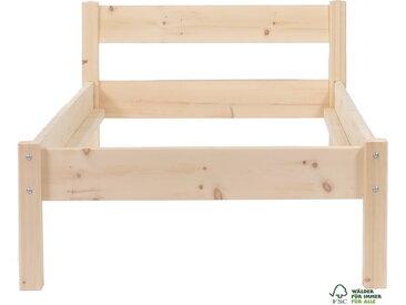 Zirbenbett Zirbenholzbett 100 x 200 cm Flächenlast 300kg Zirbe unbehandelt