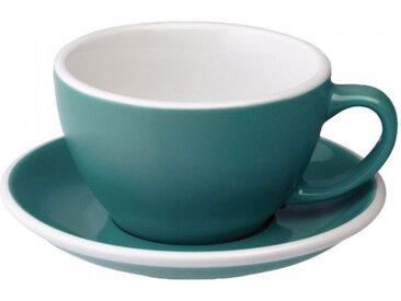 "Café Latte Tasse mit Untertasse Loveramics ""Egg Teal"", 300 ml"