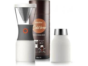 "Kaffeebereiter Asobu ""Cold Brew Stainless Steel White"""