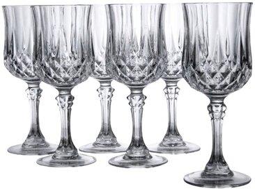 CreaTable Gläserset Weißwein Longchamp 6tlg. /Klar, Kristall,