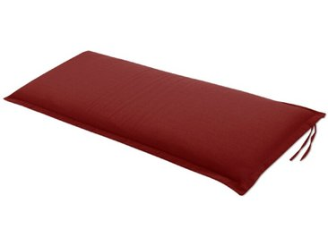 Bank-Auflage Unico 110x45cm, in rot /Rot, Stoff