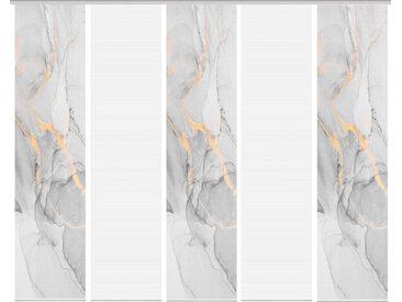 Schmidt Schiebewand Marmosa 5er-Set /Grau, Polyester