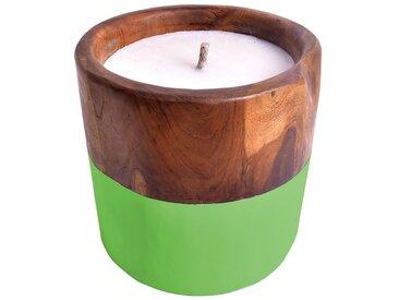 Outdoor-Kerze Cony, Ø 20 x cm /Apfelgrün, Holz