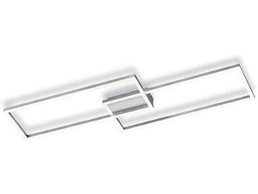 Reality Leuchten LED-Deckenleuchte Frame /Nickel matt, Alu,