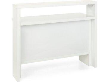 HMW Bartisch Space 130 x 50 cm /Weiß, Lack / Hochglanz