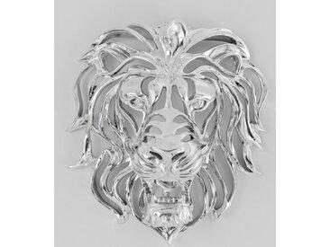 KARE DESIGN Wandschmuck 51914 Lion /Silber, Polyresin