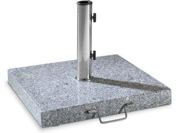 Sonnenschirmständer Granit quadratisch 40kg, Stein, Marmor,