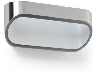 Helestra LED-Wandleuchte Onno /Silber, 18 cm Chrom, Alu, Nickel,