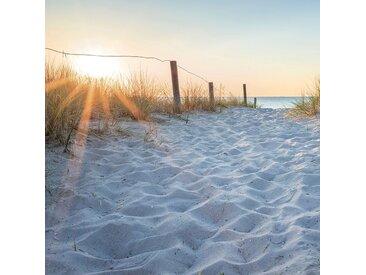 EUROART Glasbild 30 x cm Sunset at the Beach I /Orange, Glas