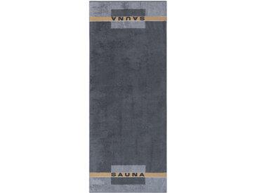 CaWö Saunatuch 80 x 200 cm /Anthrazit, Baumwolle