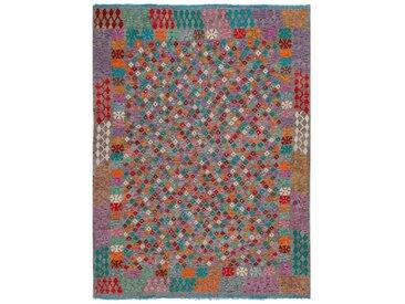 Kelim Teppich Kaudani 219 x 283 cm /Bunt, Schurwolle