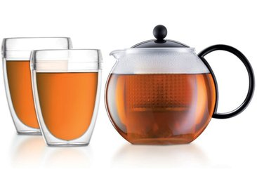 bodum Tee-Set Assam 1000 ml /Schwarz, Edelstahl