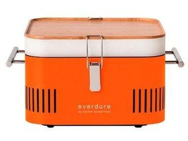 everdure Holzkohlegrill Cube /Orange, Stahl