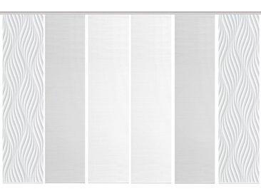 Schmidt Schiebewand Wave 6er-Set /Grau, 60 x 260 cm Polyester