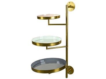 BOLTZE 3-stöckige Etagere Livas /Gold, Eisen