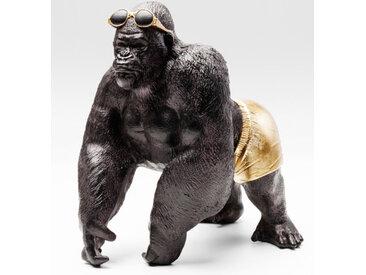 KARE Deko-Figur Monkey Beach 51150 /Anthrazit, Kunststoff