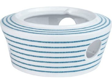 Laura Ashley Stövchen Candy Stripe /Blau, Porzellan