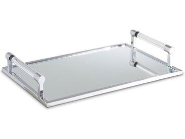 Tablett 45,5 x 30 cm /Silber, 45 Edelstahl