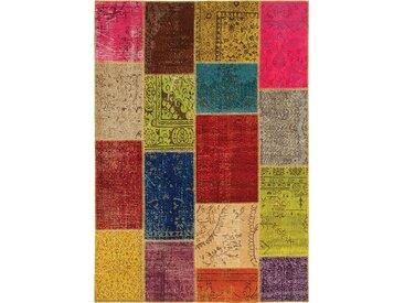 Vintage Teppich Patchwork 140 x 200 cm /Bunt, Mischgewebe