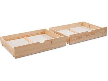 BEGABINO Bettkasten Eddi 2er Set /Kiefer, Holz