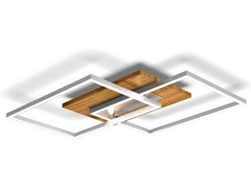 Elobra LED-Deckenleuchte Panama, 50,4 x 42 cm Holz