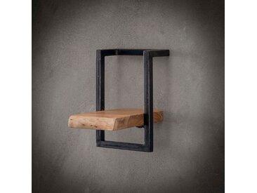 Wandregal Delft /Schwarz / Braun, Holz