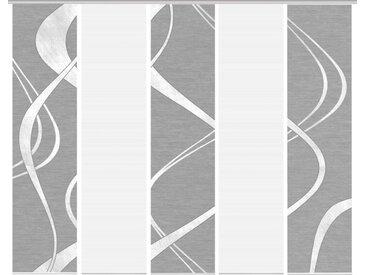 Schmidt Schiebewand Tibano 5er-Set /Anthrazit, Polyester