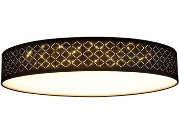 Globo LED-Deckenleuchte Clarke /Gold, 60 cm Stoff