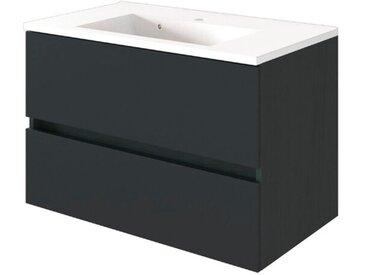 Held-Möbel Waschtischunterschrank Baabe /Graphit, 80 cm