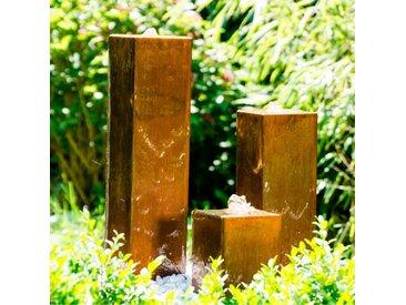 KÖHKO Gartenbrunnen Brasilien /Rostfarbig, Stahl