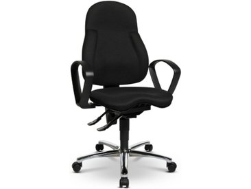 Sitness Drehstuhl Basic 100 /Schwarz, Stoff