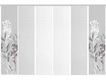Schmidt Schiebewand Semora 6er-Set /Grau, 60 x 260 cm Polyester