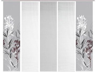 Schmidt Schiebewand Semora 5er-Set /Grau, 60 x 260 cm Polyester