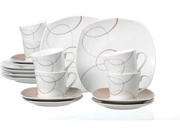 Ritzenhoff & Breker Kaffeeservice Alina Marron 18tlg., Porzellan