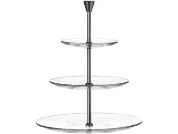 Leonardo 3-stöckige Etagere Dinner /Klar, 33 cm Glas