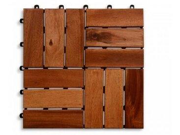 Terrassenfliese Holzfliese, Klicksystem /Akazie, Holz